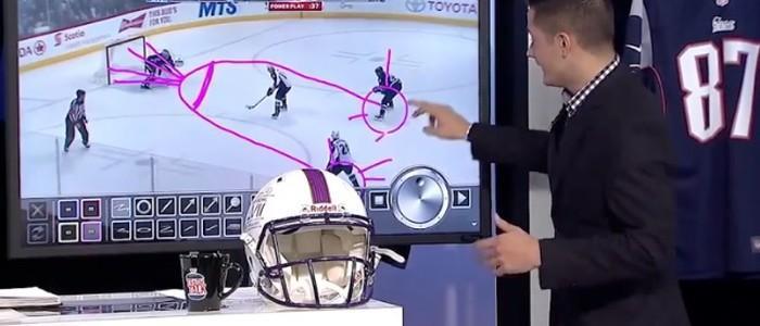 Comentarista desenha 'pênis' em tela ao explicar lance de jogo