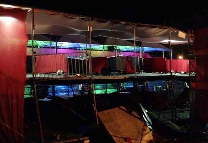 Camarote desaba em show sertanejo e 27 pessoas ficam feridas