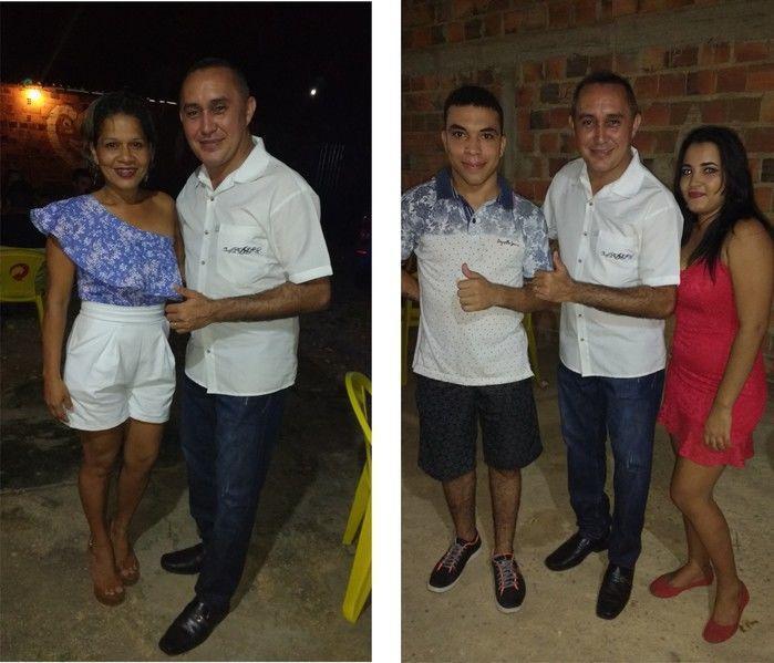 Foto à esquerda a amiga Rosana e à direita o casal Paulo Júnior e Jayne (Crédito: Edilene Lima)