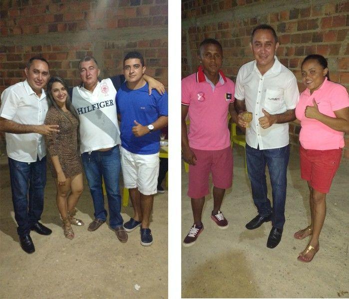 Foto à esquerda Aristeu, Josélia, Nenzão e Rarison e à direita Donizete e Laiane (Crédito: Edilene Lima)