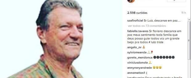 """Luciano Szafir lamenta morte do pai de Xuxa: """"Descanse em paz"""""""