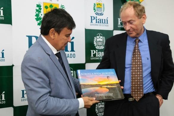 Wellington Dias durante reunião (Crédito: Jorge Henrique Bastos)
