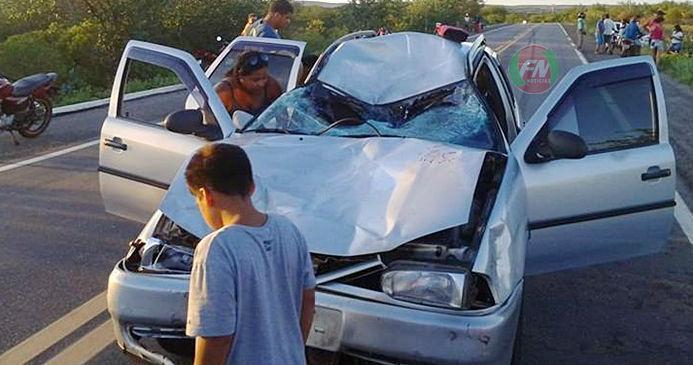 Ocupantes do outro veículo envolvido no acidente na BR-407 (Crédito: Divulgação)