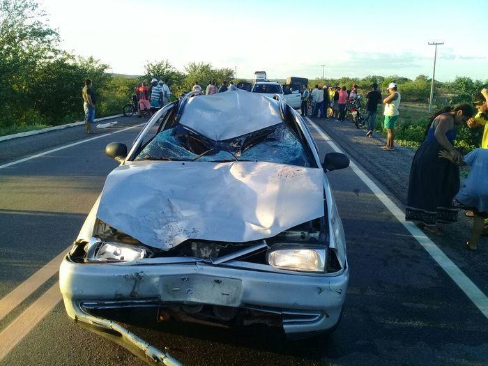 Veículo Parati envolvido no acidente na BR-407 (Crédito: Divulgação)
