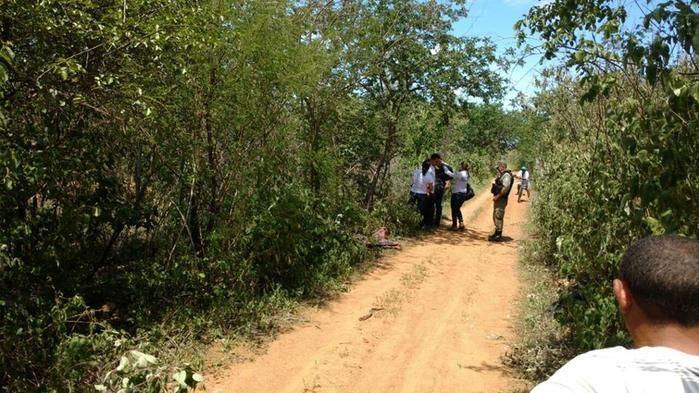 Estrada onde o corpo foi encontrado próximo de Padre Marcos (Crédito: piauiemfoco)