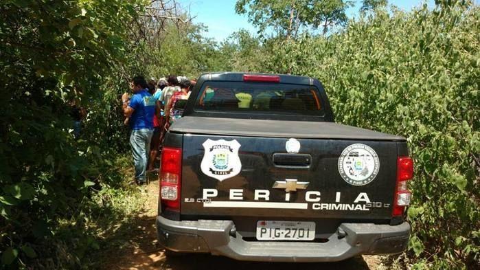 Perícia Criminal no local do crime próximo de Padre Marcos (Crédito: Piauiemfoco)