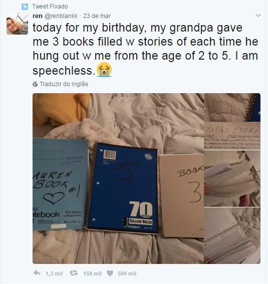 Presente de avô para adolescente emociona internautas