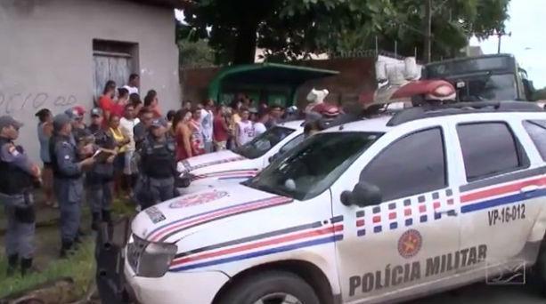 Polícia Militar foi acionada (Crédito: TV Mirante)