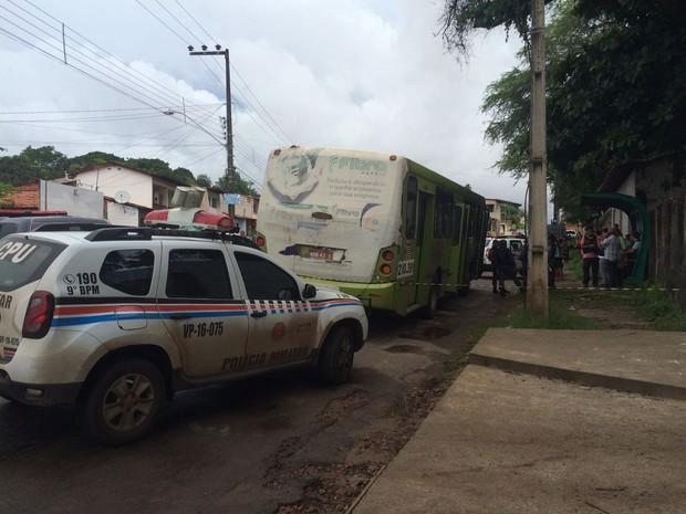 Local onde ocorreu a tentativa de assalto (Crédito:  Mieko Wada/TV Mirante)