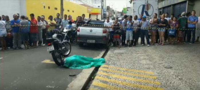 Bandido é morto ao tentar realizar assalto no Centro de Teresina (Crédito: Rede Meio Norte)