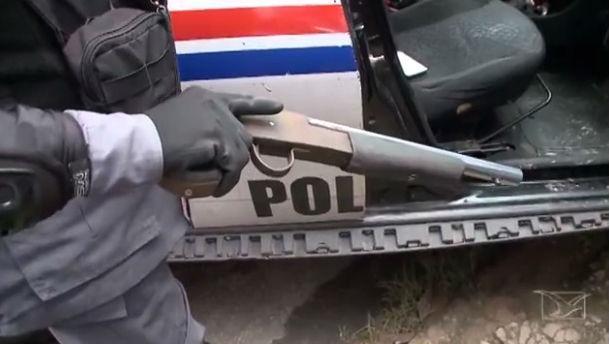 Arma usada por Rairan Batista da Silva (Crédito: TV Mirante)