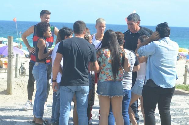 Justin Bieber em praia