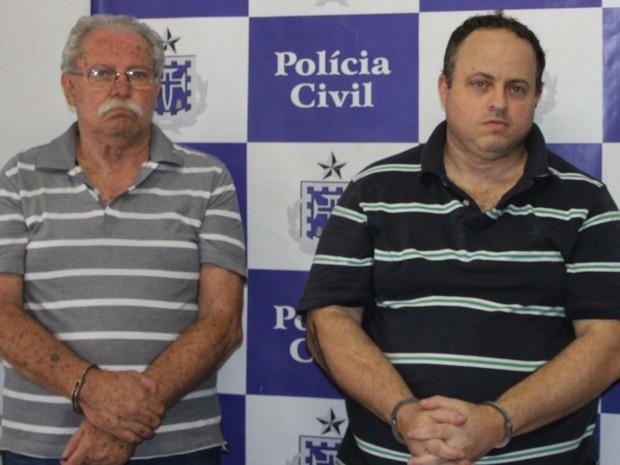 Pai e filho, de 65 e 40 anos, foram presos em Salvador