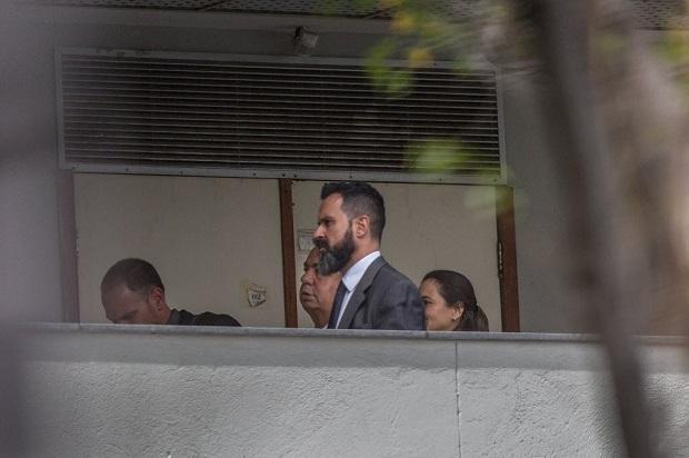Jorge Picciani chega à PF