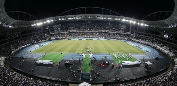 O Engenhão vai receber as torcidas de Flamengo e Fluminense na final da Taça Guanabara (Crédito: Reprodução)