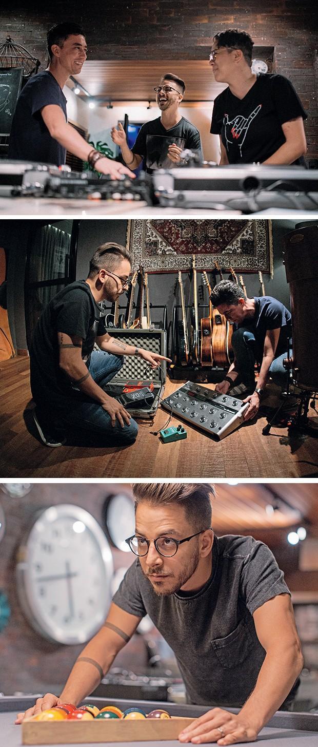 Junior Lima mostra seu estúdio