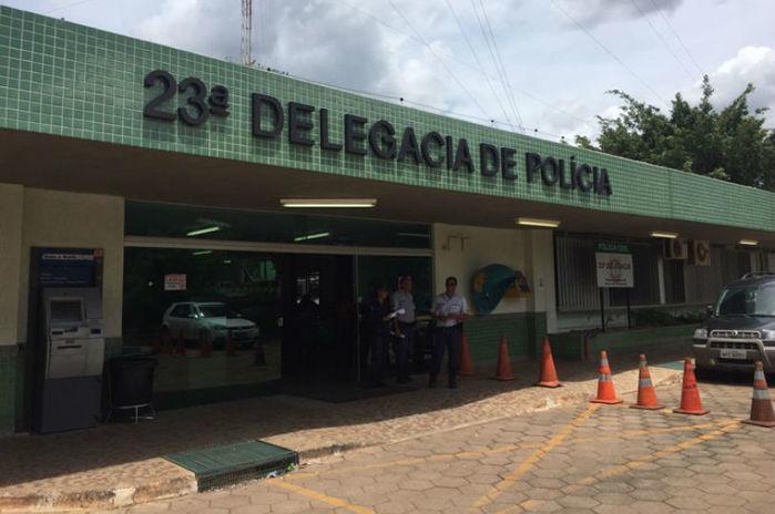 O crime foi registrado na 23ª Delegacia (Ceilândia)