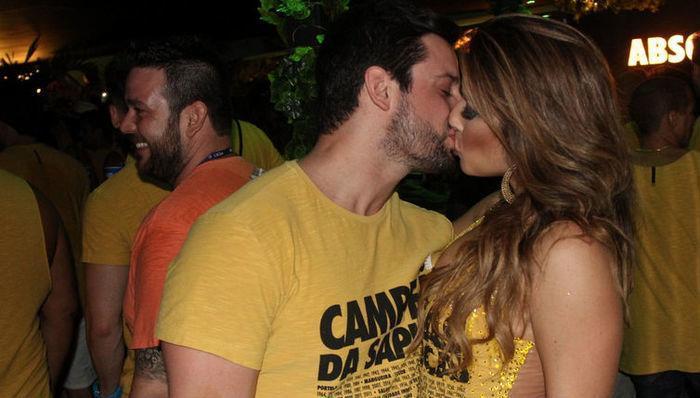 Renata Dominguez e o namorado, Márcio Bruzzi