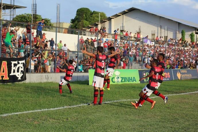 Jogadores do Flamengo celebram  (Crédito: Wilson Filho/ECF)