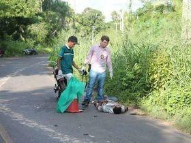 Dois homens morrem em colisão frontal de motos na PI-112