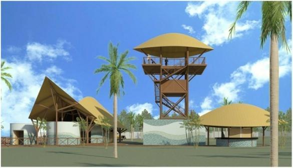 Nova estrutura do Porto dos Tatus