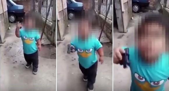 Criança de 5 anos treinada para fazer assaltos impressiona  (Crédito: Reprodução)