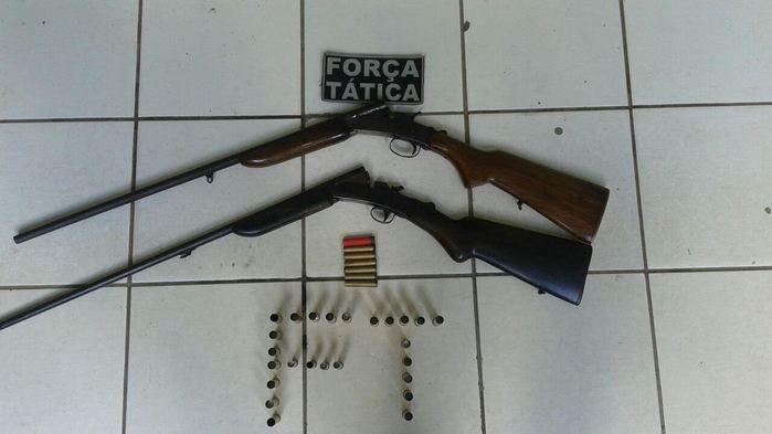 Força Tática prende dois suspeitos com arma de fogo em Jacobina
