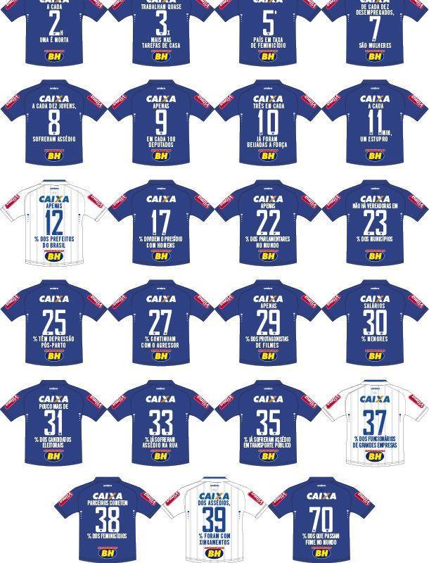 Cruzeiro vai usar camisas com mensagens sobre o Dia Internacional das Mulheres (Crédito: Reprodução)