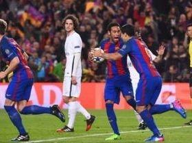 Barcelona faz 6 a 1 no PSG e conquista vaga nas quartas de final