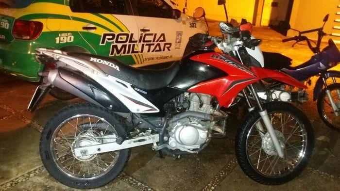 Moto roubada por Aderlan Rocha de Sousa (Crédito: Divulgação)
