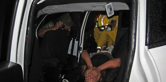 Vítima socorrida após acidente (Crédito: Blog do Pessoa)