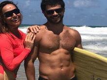 Sabrina Sato e Duda Nagle posam e impressionam em praia; fotos!