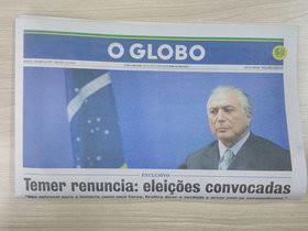 Edição falsa de O Globo anuncia renúncia de Temer