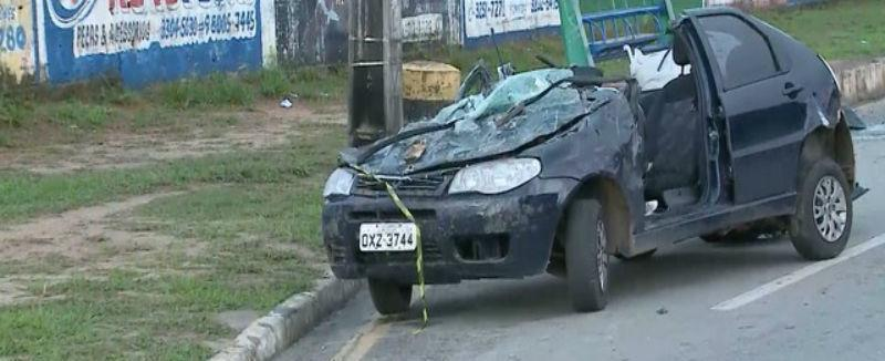 Acidente deixa dois mortos e carro fica destruído no Maranhão