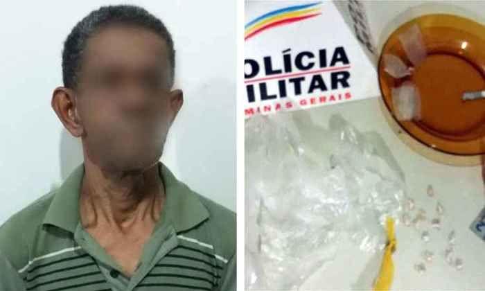 Idoso de 66 anos é preso em flagrante por tráfico de drogas