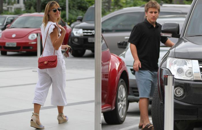 Carolina e Davi flagrados na saida do shopping