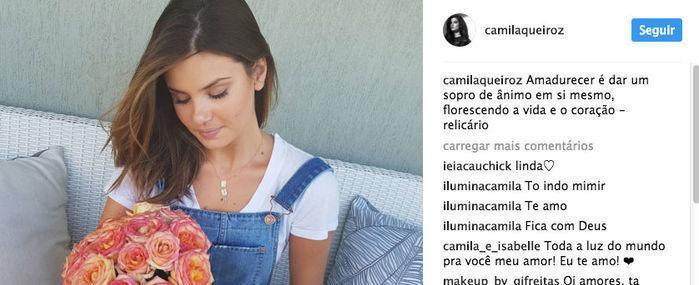 Camila Queiroz publica mensagem tocante após morte do pai