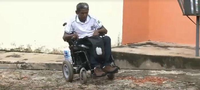 Cadeirante vivencia drama em Teresina (Crédito: Rede Meio Norte)