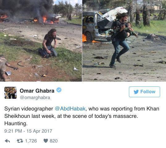 Fotógrafo resgata criança em explosão de ônibus na Síria