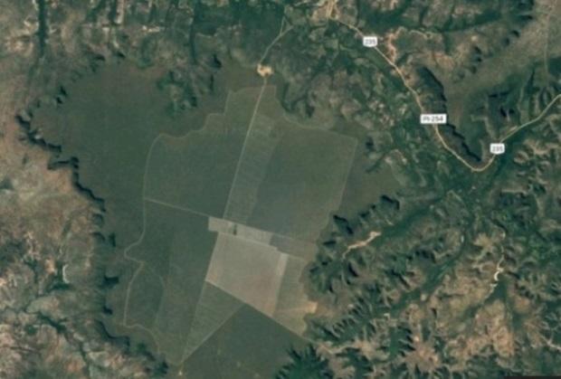 Imagem de satélite mostra a área de 3 mil hectares onde será instalado o Parque Eólico de Santa Filomena