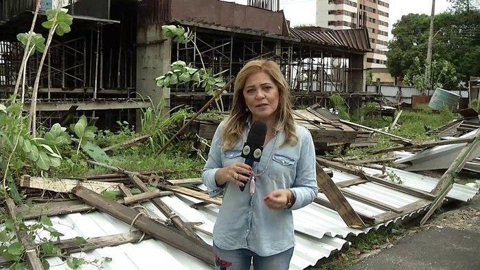 A repórter Cinthia Lages (Crédito: Arquivo/MN)