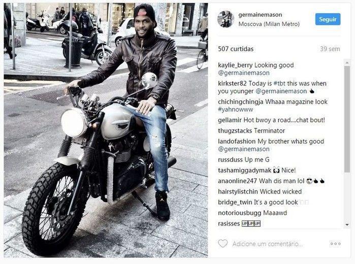 Germaine Mason sofreu um acidente de moto em Kingston, na Jamaica (Crédito: Getty)