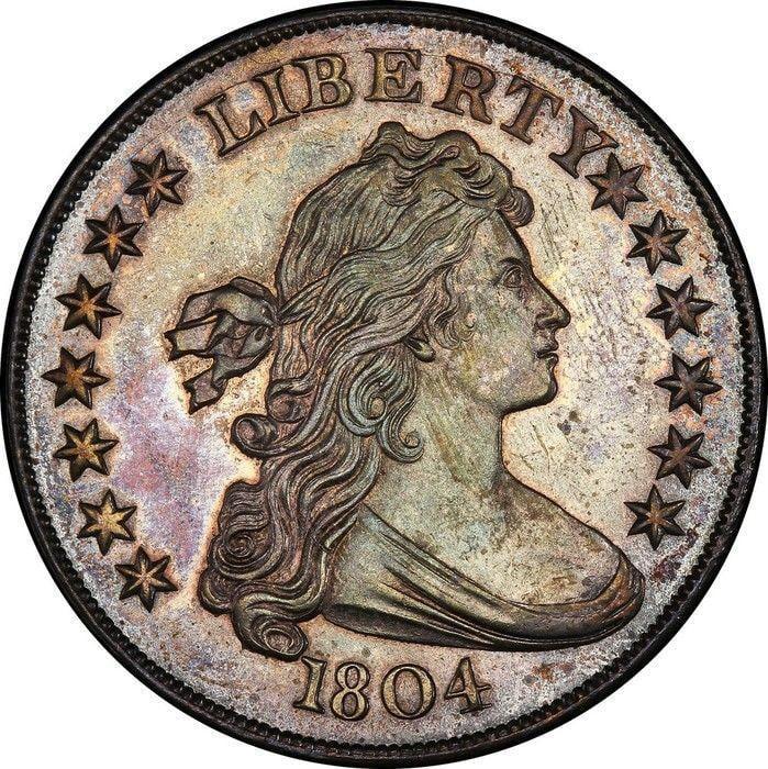 Moeda de dólar de 1804 (Crédito: Reuters)