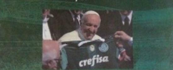 Vaticano pode ir à Justiça por foto do Papa com camisa do Palmeiras