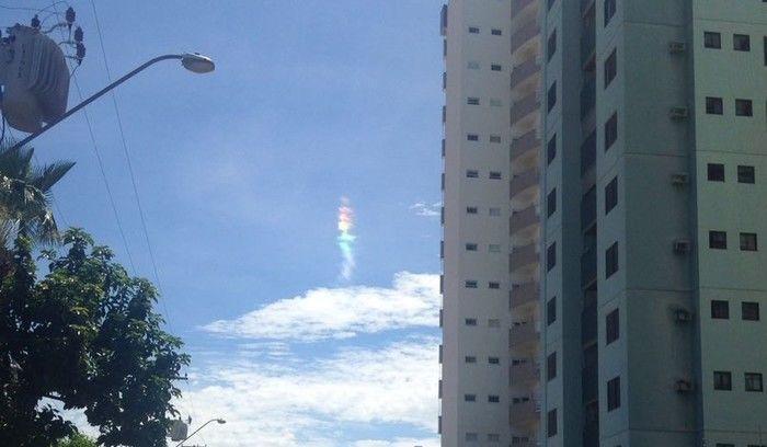 Arco-íris de fogo em céu de Palmas (Crédito: Reprodução)