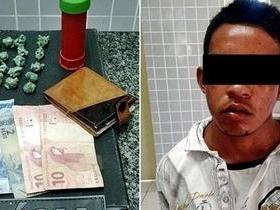 Polícia Militar captura jovem com 19 trouxas de maconha