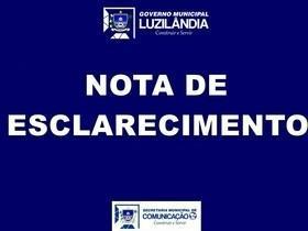 Prefeitura de Luzilândia divulga nota de esclarecimento