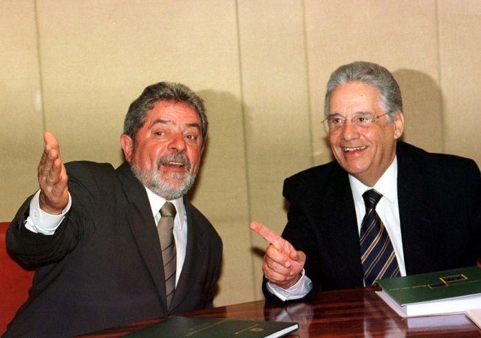 Lula e Fernando Henrique Cardoso