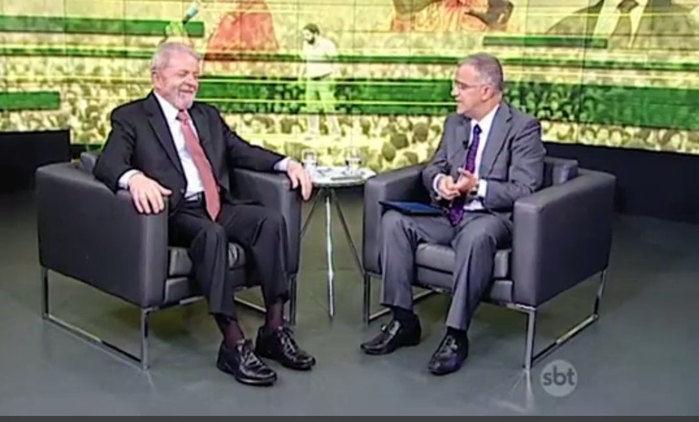 Lula em entrevista ao SBT Brasil
