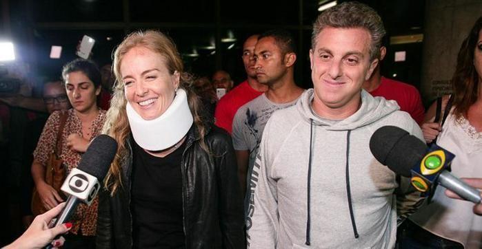 Angélica, Huck e os filhos sofrem acidente aereo